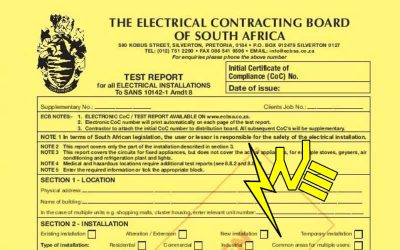Is it a legal requirement to have an electrical certificate of compliance?