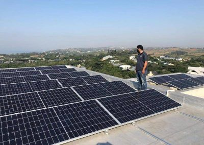 Solar power installation completed on full rooftop
