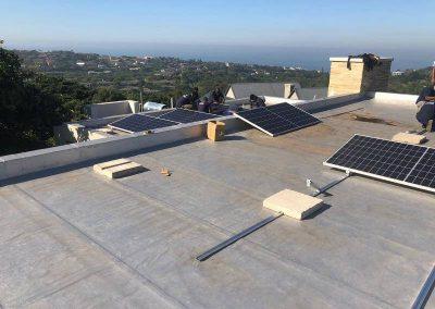 Solar power installation on rooftop